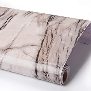 """Marble Contact Paper Wallpaper, Self Adhesive Decorative Renovated Granite Stickers Furniture Vinyl Waterproof Kitchen Countertop Cabinet for Home 29.7"""" x 122"""""""