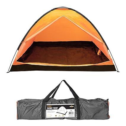 Image Unavailable  sc 1 st  Amazon.com & Amazon.com : Milestone Camping Dome Four Person Tent - Orange by ...