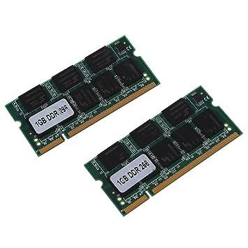 SODIAL(R) 2x 1GB 1G Memoria RAM Memoria apra PC2100 DDR CL2.5 DIMM 266MHz 200 pines para ordenador portatil: Amazon.es: Electrónica