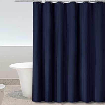 Eforgift Fabric Shower Curtain No More Water Or Mold With Free Plastic Hooks Simple Design