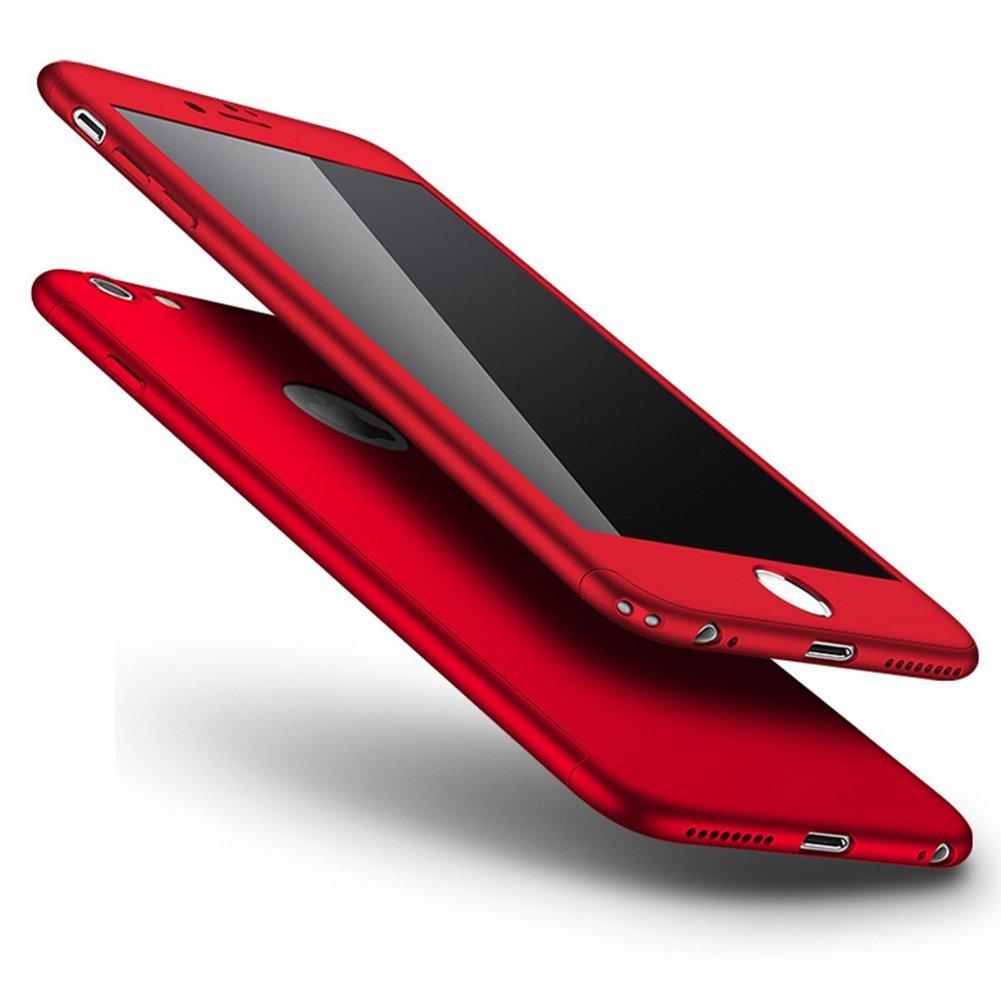 Hülle für iPhone 7 4.7,iPhone 7 4.7 HandyHülle Vollschutz Case Gratis Panzerglas, Herbests [Thin Fit] Komplettschutz 360° Rundumschutz-Schale in perfekter Passform 2-teilige Premium Hart-PC Dünne Schutzhülle Tasche für iPhone 7 4.7 -Seidig Blau LNE0378L