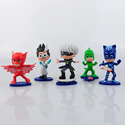 5pcs/set 2.75inch Pj mask Characters Catboy Owlette Gekko Cloak Action Figure Toys Boy