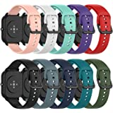 QGHXO Band Replacement for Amazfit GTS, Soft Silicone Band Replacement for Amazfit GTS/GTR 42mm / Bip/Bip Lite Smart Watch (N