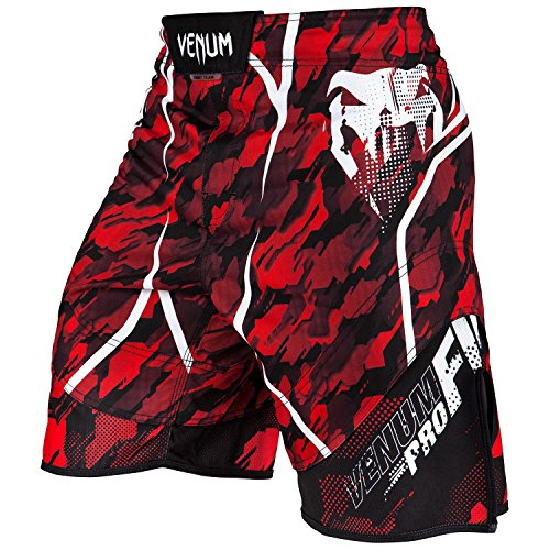 Red Mma Fight Shorts (Venum 3121-425 Tecmo Fight shorts, Red/White, Large)