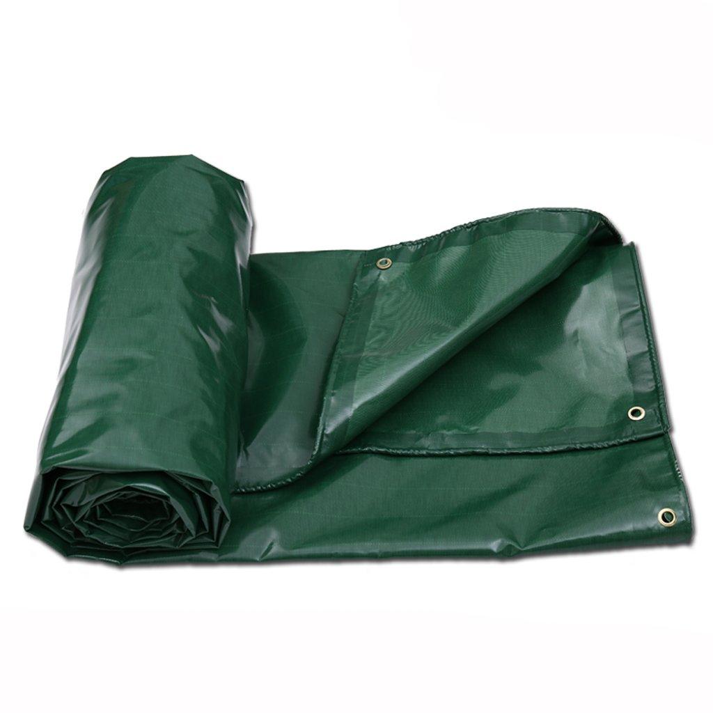 ターポリン防水日除けバイザーレインクロスキャノピークロスカーキャンバストラックターポリン (色 : Green, サイズ さいず : 5 * 7m) B07FLV5ZXT  Green 5*7m