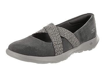 ecc3bae3c736 Skechers Womens GoWalk Lite Cherished Slip On Casual Shoes  Amazon ...