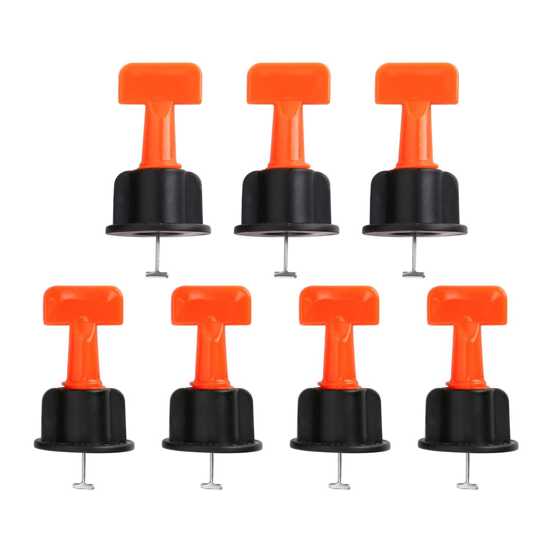 Lot de 50 entretoises de nivellement pour carrelage avec cl/é sp/éciale r/éutilisable et r/éutilisable