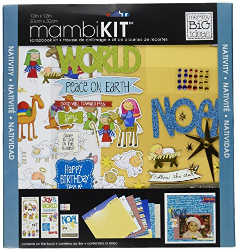 (me & my BIG ideas mambiKIT Scrapbook Page Kit, Nativity, 12-Inch by 12-Inch)