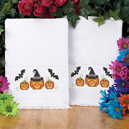 Herrschners® Pumpkin Patch Terry Towel Pair Stamped Cross-S