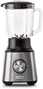 Dash Quest Countertop Blender 1.5L with Stainless Steel Blades for Coffee Drinks, Deserts, Frozen Cocktails, Purées, Shakes, Soups, Smoothies & More - Stainless