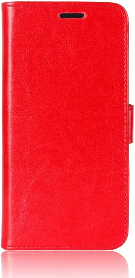 zl one Compatible with/Replacement for Phone Case Lenovo K8 Note PU Leather Protection Card Slots Wallet Cover Flip Case (Red)