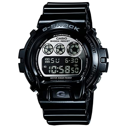 Casio G-Shock Digital Grey Dial Men's Watch - DW-6900NB-1DR (G673) Men's Watches at amazon