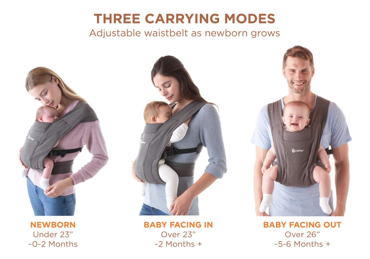Multi-Functional Hug Strap for 7-45lbs(3-48 Months)Newborns and Baby. Ergonomic Design 4 in 1 Infant Sling Black Shsyue Baby Soft Carrier