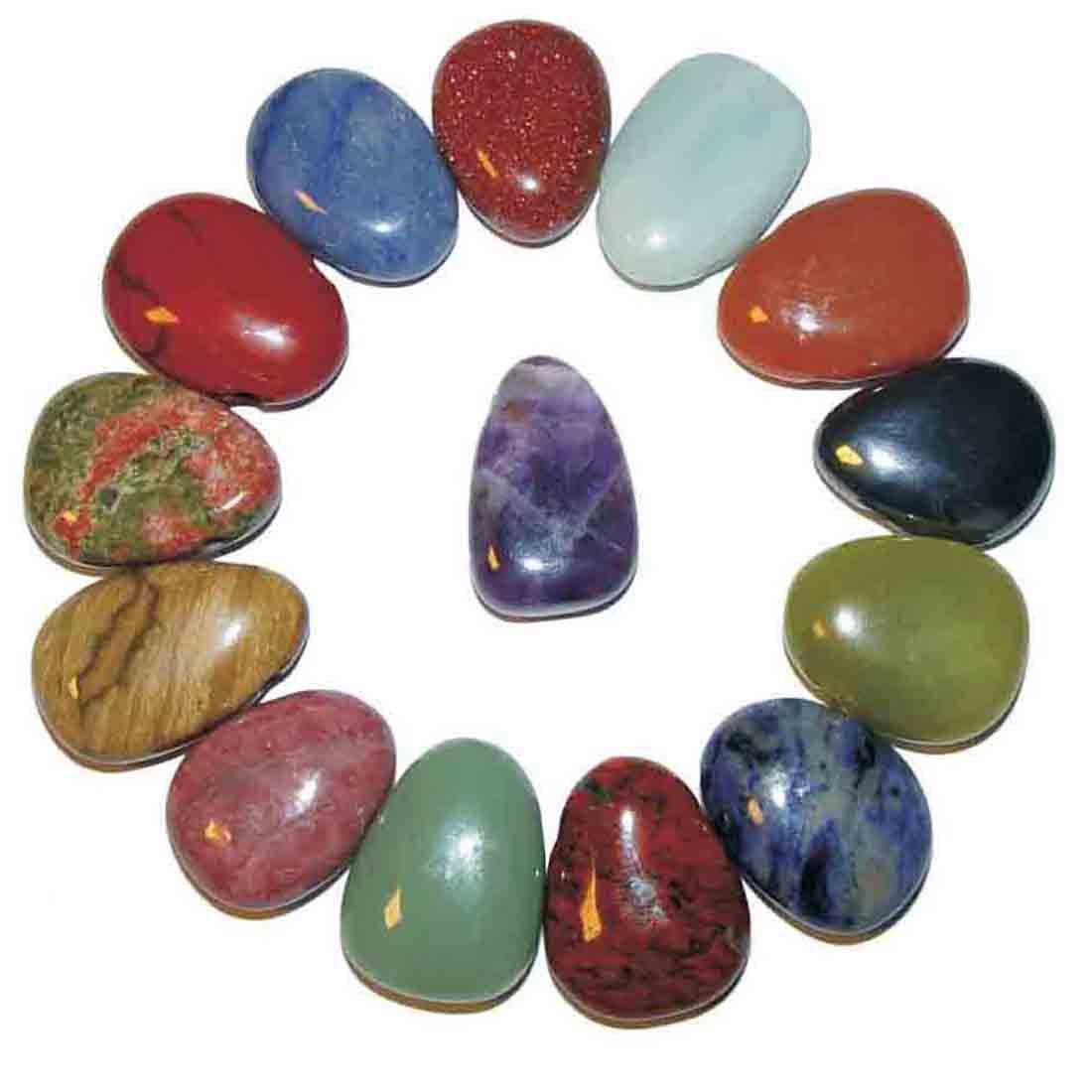 Trommelstein Rhodonit sehr gute Qualität mehrere Steine
