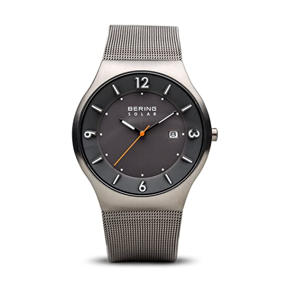 Amazon.com: BERING Time 14440-077 Mens Solar Collection Watch with Mesh Band and Scratch Resistant Sapphire Crystal. Designed in Denmark.: Watches