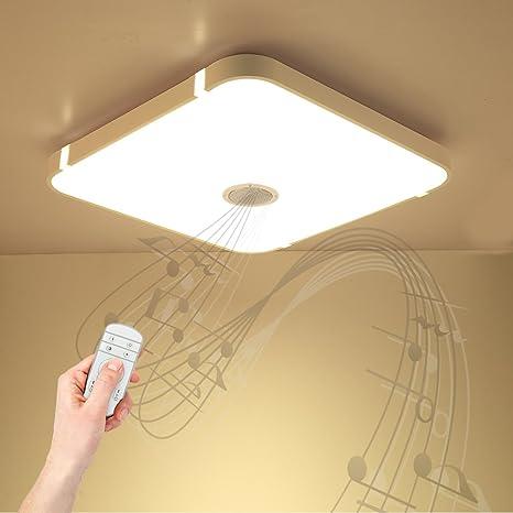 Lámpara de techo regulable con control remoto y altavoz Bluetooth ...