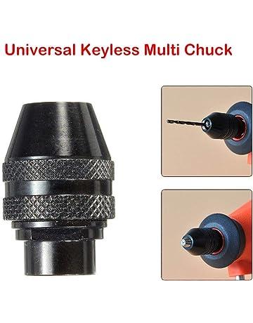 Demino Adattatore Drill 0.5-8mm Keyless Chuck 3 Jaw 1//4 di Pollice Attacco Esagonale Mandrino Converter