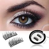 IMSTYLE Magnetic Eyelashes No Glue Reusable Fake Eye Lash Extensions Cruelty Free (Double Magnetics-2)