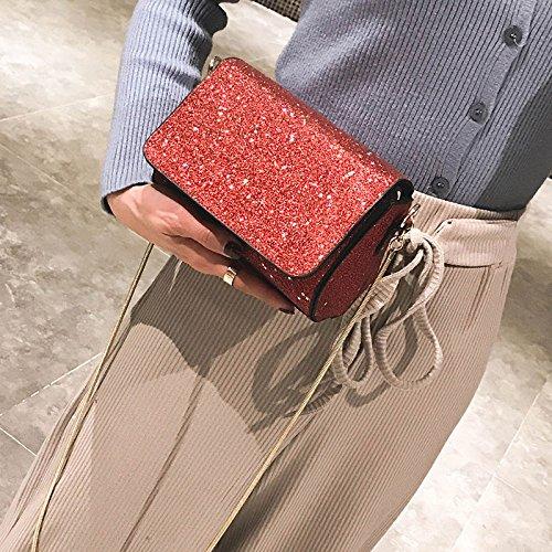 Aire Compras Ms Moda Paquete Al Casual Pequeño Red Trend Libre Wild Crossbody Bag Cuadrado Bolsas Lentejuelas Hombro Daypack qrZqwxOp