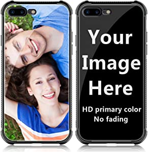 Shumei Custom Case for Apple iPhone 7 Plus or iPhone 8 Plus Glass Cover 5.5 inch Anti-Scratch Soft TPU Personalized Photo Make Your Own Picture Phone Cases