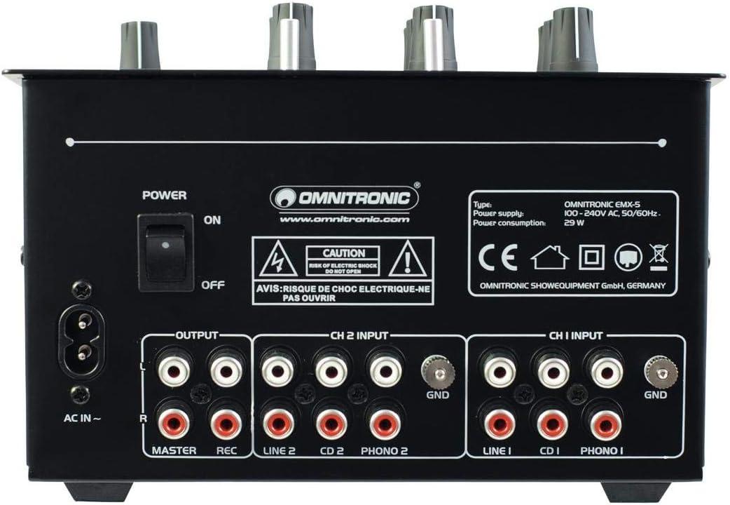 Omnitronic 10006819 - Mesa de mezcla de batalla DJ (2 canales ...