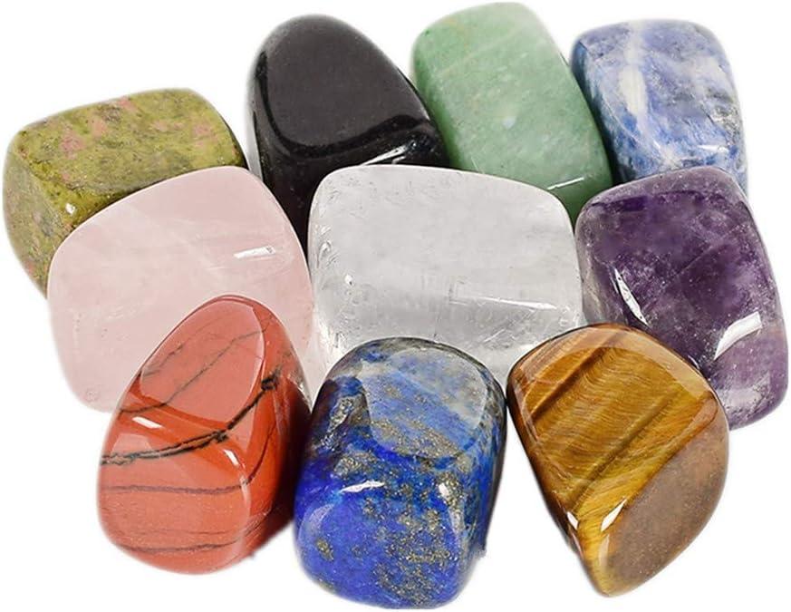 AITELEI 10 Unidades/Caja Natural Chakra Caída Piedra Preciosa Piedra Preciosa Roca Mineral Cristal Pulido Meditación curativa para Feng Shui decoración