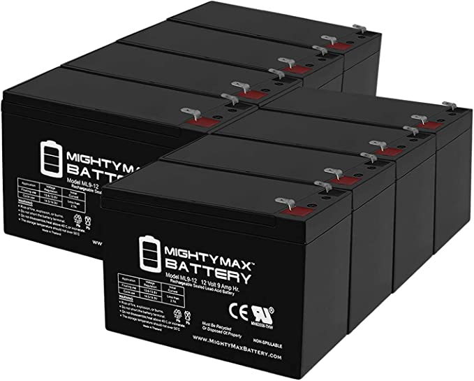 6 Pack Brand Product Mighty Max Battery 12V 9AH Replacement for ...