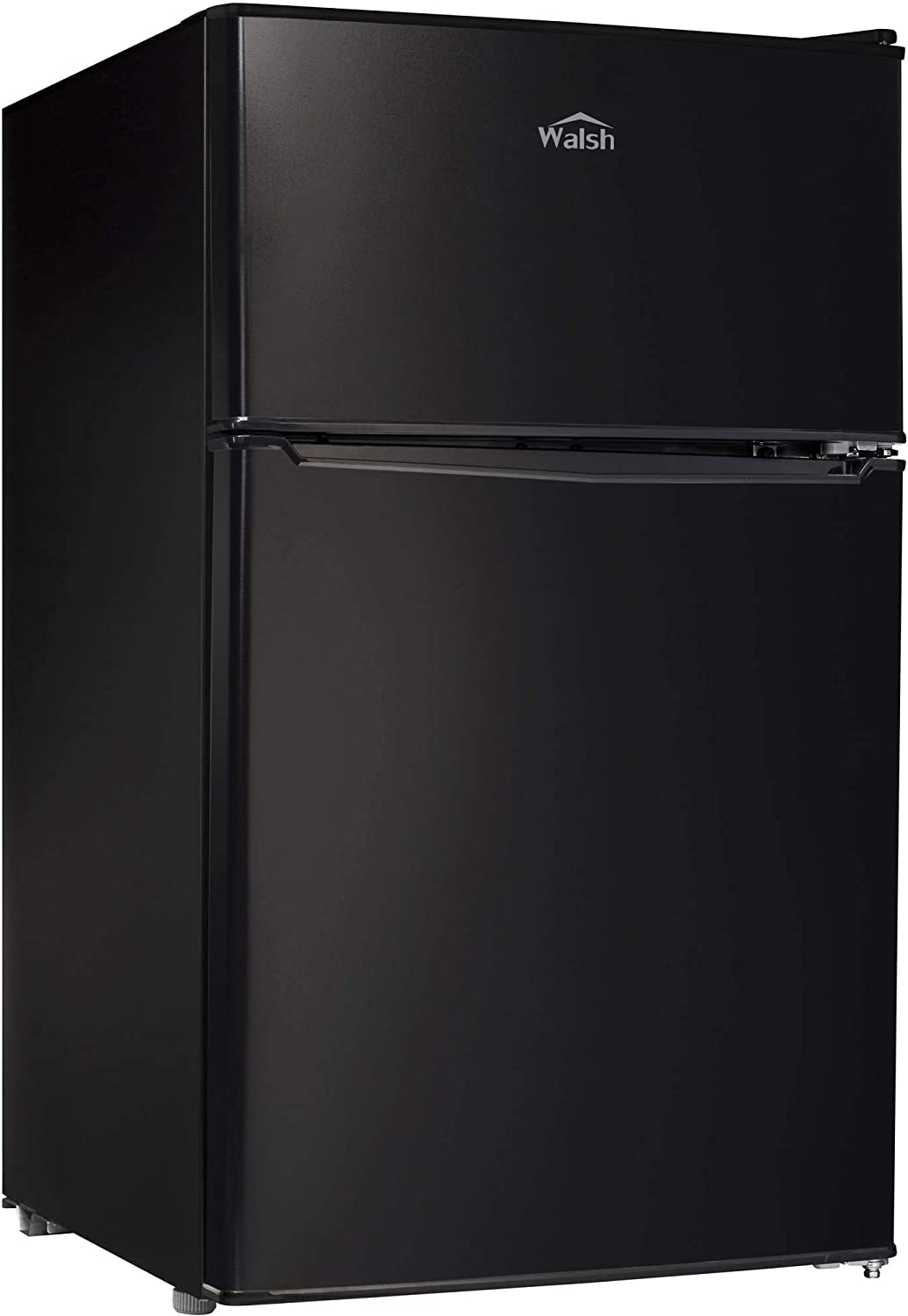 Walsh WSR31TBK Compact Refrigerator 2-Door Fridge Adjustable Mechanical Thermostat with True Freezer, 3.1 Cu.ft Black