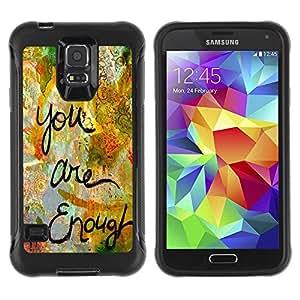 Paccase / Suave TPU GEL Caso Carcasa de Protección Funda para - Are Enough Love Quote Paint Funny - Samsung Galaxy S5 SM-G900
