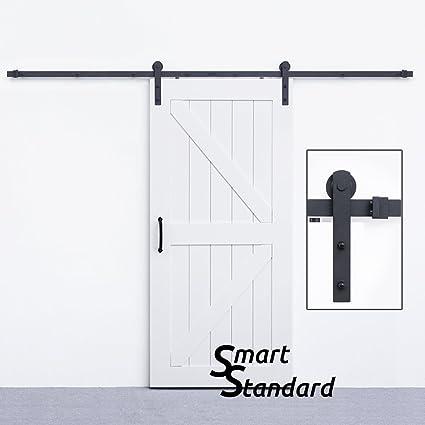 SmartStandard 10ft Heavy Duty Sturdy Sliding Barn Door Hardware Kit U2022for  Wide Opening Or Two