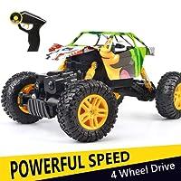 Double E RC Graffiti Rock Crawler, 2.4G 4WD voiture de contrôle tout-terrain Radio Mountaineer 4 roues motrices 1:18 échelle Monster Truck, DIY Fun & prêt à courir Buggy télécommande Grand cadeau pour les enfants