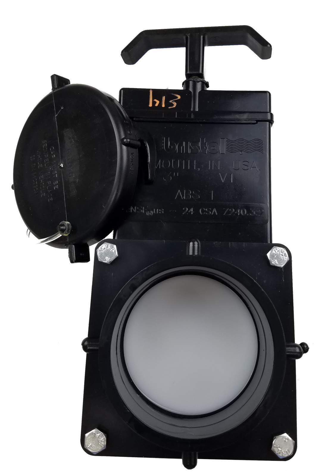 Bristol Dump Waste Valve for RV Water Tank 3 inch Hub to Lug with Cap by Bristol