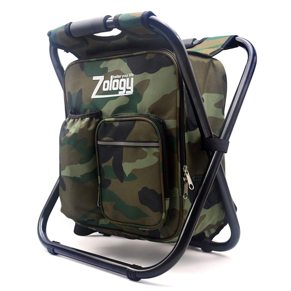 CAMPORT Folding Camping Chair Stool Backpack with Cooler Insulated Picnic Bag, Hiking Camouflage Seat Table Bag Camping Gear for Outdoor Indoor Fishing Travel Beach BBQ by CAMPORT