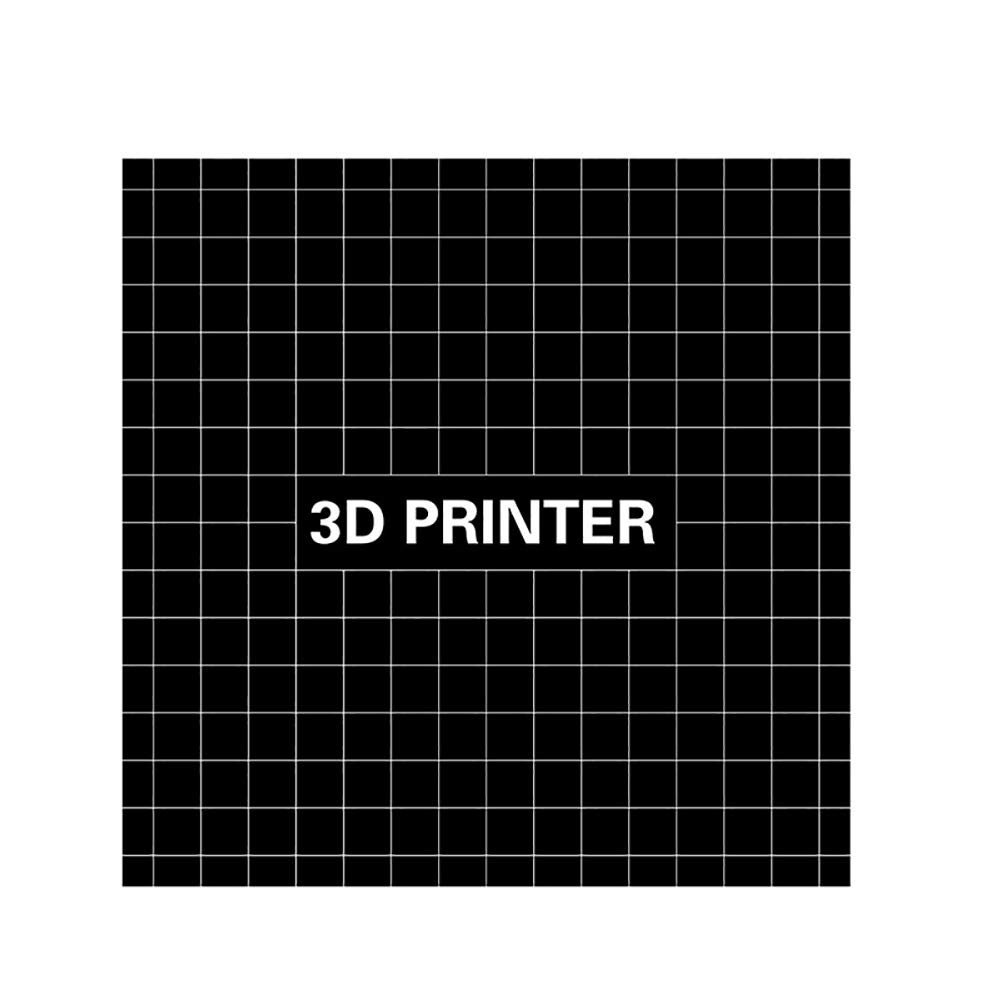 Dnasrivew 220x220x0.5mm Reusable 3D Printer Build Surface Platform Heating Bed Sticker 1