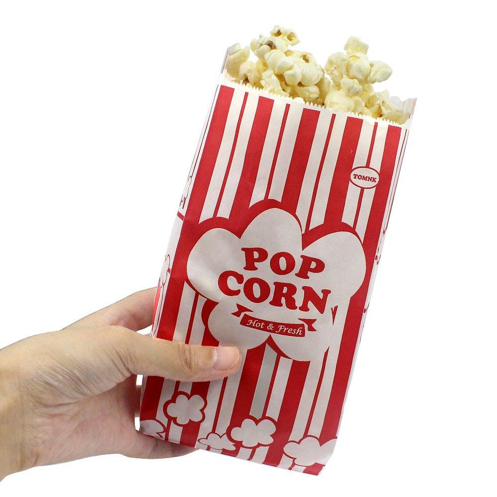 1oz Tomnk 100pcs Paper Popcorn Bags Bags
