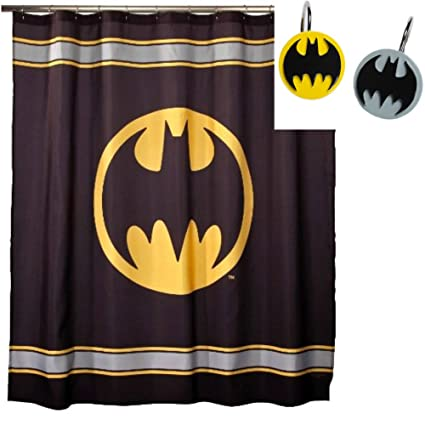 Amazon Batman Fabric Shower Curtain 70 X 72 Inches WITH
