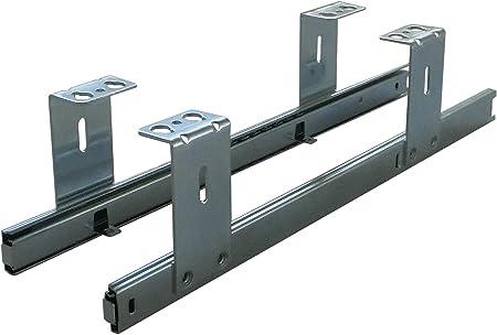 FIX/&EASY Coulisses de clavier roulement /à billes 300mm glissi/ère noir pour tablettes ou tiroir assemblage sous la table