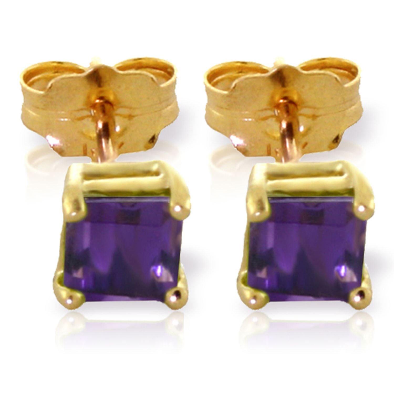 ALARRI 0.65 Carat 14K Solid Gold Cheers To Love Amethyst Earrings