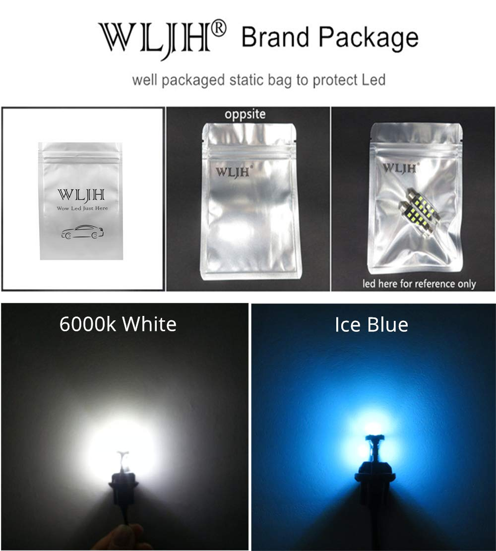 Wljh 13PIECES auto illuminazione LED pacchetto kit luce LED interna per X1/ E84/ 2010/ 2011/ 2012/ 2013/ 2014/ 2015