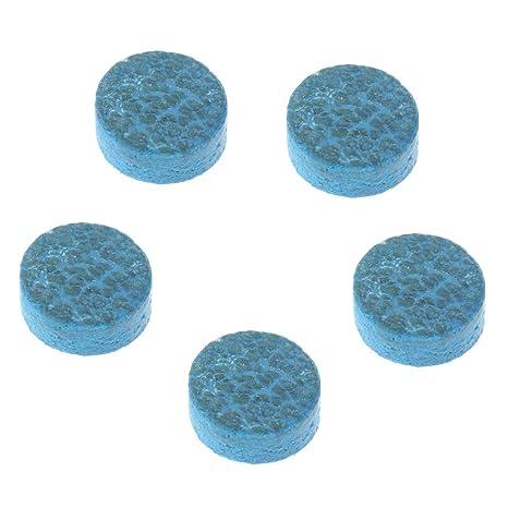 Gazechimp 5pcs 10mm Azul Diamante de Cuero Pegamento de Billar ...