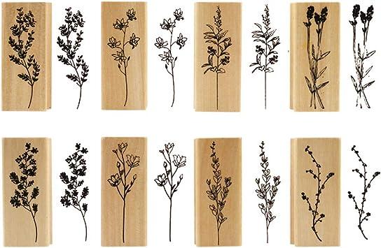rubber stamps wood stamp wood stamps rubber| flowers stamps\uff0cwords stamps|3 sets rubber stamp set rubber stamp vintage