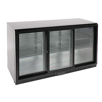 Polar Triple para puerta corredera de vuelta barra 850 mm negro con iluminación LED: Amazon.es: Industria, empresas y ciencia