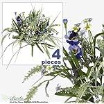 FOUR-17-Pansy-Astilbe-Mixed-Artificial-Flower-Grass-Arrangement-Lavender-Purple