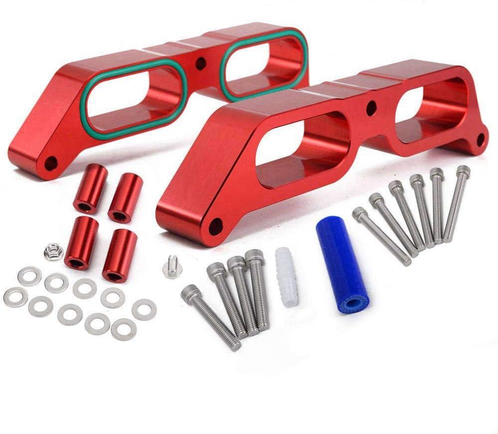 Red EPMAN EPAB04400 Performance Intake Manifold Spacer Billet Power Block for Subaru BRZ 2013-2017 for Toyota 86 FA20 Engine