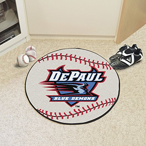 Floor Round 29 Baseball Mat - DePaul Blue Demons NCAA