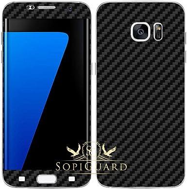 SopiGuard - Carcasa de Vinilo para Samsung Galaxy S7 GS7 (Fibra de ...