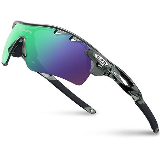 【タイムセール】RIVBOS(リバッズ)RBK0801 スポーツサングラス 偏光レンズ1枚 交換レンズ5枚 ロードバイク 自転車uv400 紫外線カット メンズ レディース ユニセックス サングラス