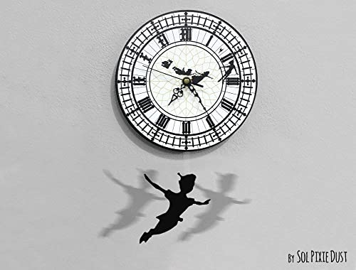 Peter Pan Swinging on the Big Ben – Pendulum Wall Clock