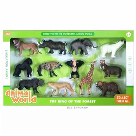 Amazon Com Gecter 12pcs Animal Toys Set Educational Resource High