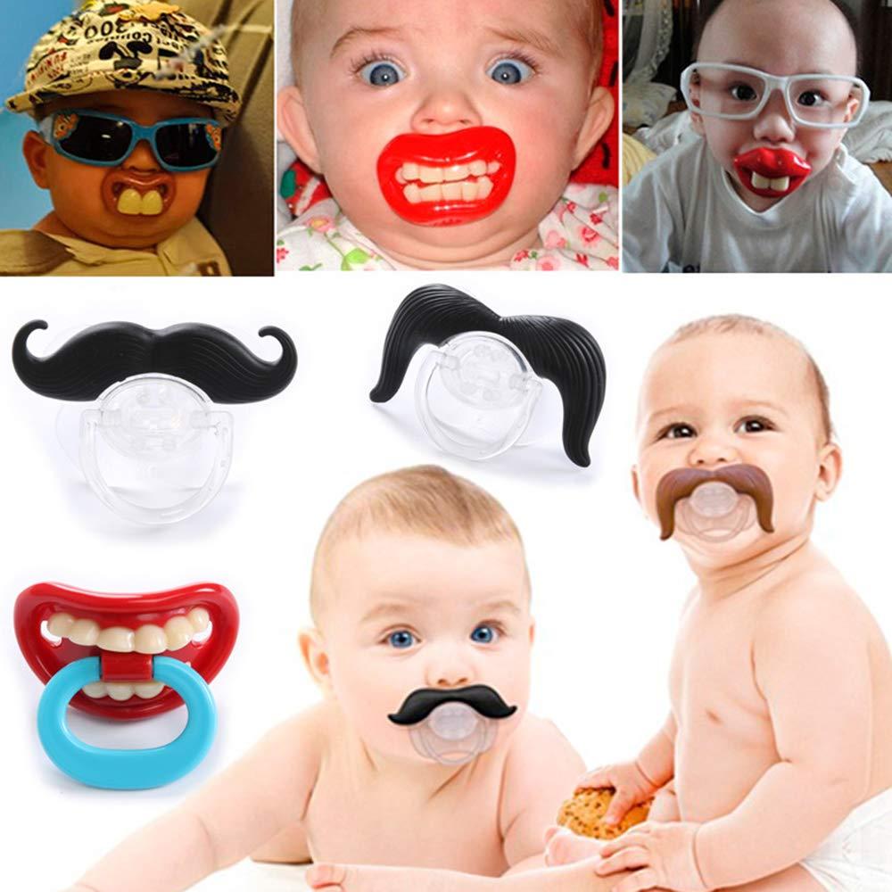 Ogquaton Bebé chupete forma creativa bigote chupete ...
